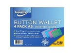 Document Wallet A5 4 Pack Assorted Colours