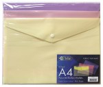 Button Wallets A4 3 Pack Pastel Perfect Stationery