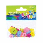 Craft With Fun Buttons Flowers 32 Pieces