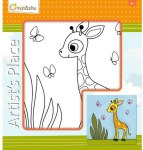 Canvas Board To Paint Giraffe