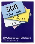 Cloakroom Tickets 1 to 500