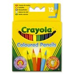 Colouring Pencils 12 Pack Crayola Half Length