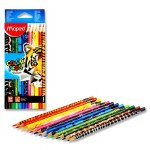 Colouring Pencils 12 Triangular Color'Peps Animal