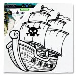 Icon Colour My Mini Canvas 100 x 100mm Pirate Ship