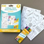Craft Label Kids Colour Your Own Stickers - Dinosaur
