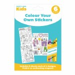 Craft Label Kids Colour Your Own Stickers - Fairy Princess