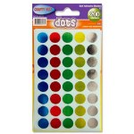 Coloured Dots 200 Pack Crafty Bitz