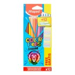 Maped Color'peps Colouring Pencils 12 Pack + Labels