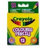 Colouring Pencils 12 Pack Crayola Half Length