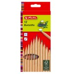 Colouring Pencils Natural 12 Pack Herlitz