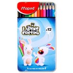 Colouring Pencils The Lapins Cretins 12 Color'Peps Maped