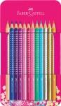 Colouring Pencils Grip Sparkle Tin of 12