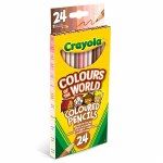 Colouring Pencils Colours Of The World 24 Pack Crayola
