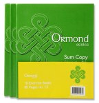 Copies 5 Pack Maths 88 Page Ormond