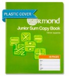 Copy Maths 10mm Square 40 Page Ormond with Plastic Cover