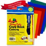Heavy Duty Copy Covers 5 Pack Solid Colours Student Solutions