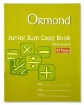 Copy Maths 10mm Square 40 Page Ormond