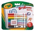 Crayola 8 Washable Dry Erase Markers