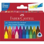 Triangular Wax Crayons 24 Pack Faber Castell