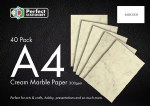 A4 Paper Cream Marble 40 Pack 100gsm Perfect Stationery