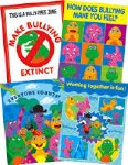 Dino Mights Bullying Set of 4 Posters Infants to 2nd Class Prim Ed