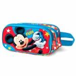 Disney Pencil Case Double Zip Mickey Mouse