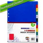 Premier Office Subject Dividers Numbered 1-12