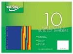 Subject Dividers 10 Pack Plastic Supreme