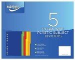 Subject Dividers Extra Wide 5 Pack Plastic Supreme