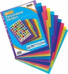Tiger A4 Extra Wide Personalisied Dividers 10 Pack