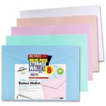 Button Document Wallet 5 Pack Pastel