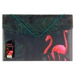 Document Wallet A4 With Elastic Band 3D Tropical Twilight