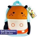 Emotionery Cute Animal Preschool Bag Hippo