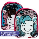 Emotionery Preschool Bag Reversible Sequins Unicorn