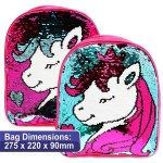 Emotionery Preschool Bag Reversible Sequins Unicorn Tiara