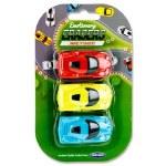 Emotionery Novelty Erasers 3 Racing Cars