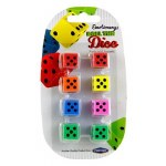Emotionery Novelty Erasers 8 Roll The Dice