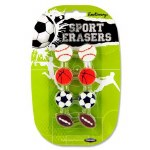 Emotionery Novelty Erasers 8 Sport