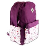 Explore Backpack School Bag White Hearts Hoop 20 Litres