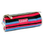 Explore Pencil Case Pink Black Blue Stripes