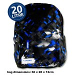 Premier Explore School Bag Blue Urban 20 Litres