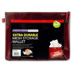 Document Mesh Wallet Extra Durable Rhubarb A4+