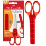 Grip School Scissors Red Faber Castell