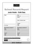 Primary School Record Report Card Junior Infant to 6th Class CJ Fallon
