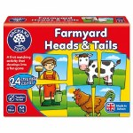 Farmyard Heads & Tails Game Orchard Toys