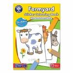 Farmyard Sticker Colouring Book Orchard Toys