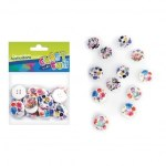 Craft with Fun Wooden Floral Buttons 20 Pieces