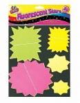 Fluorescent Stars Assorted 50 Pack