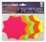 Fluorescent Stars 4 inch 30 Pack