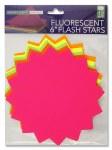 Fluorescent Stars 6 inch 12 Pack